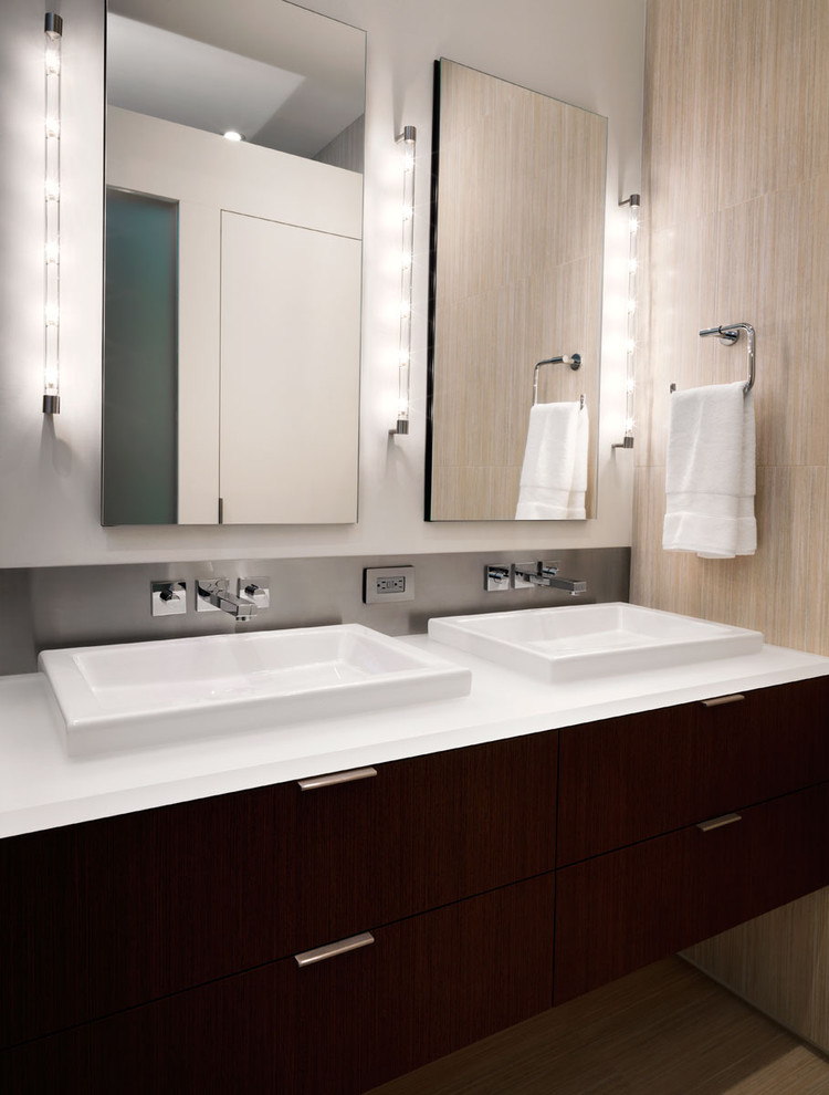 Nessen Lighting for Contemporary Bathroom with Towel Bar
