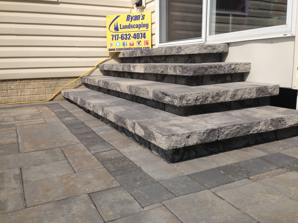 Nicolock Pavers for Transitional Patio with Hardscape