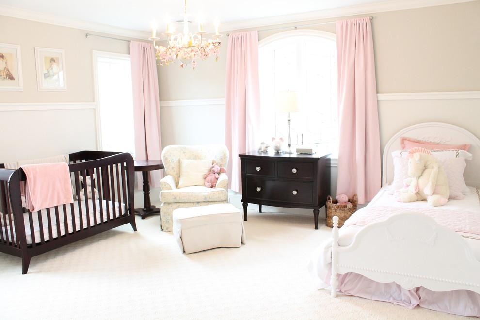 Nylon vs Polyester Carpet for Traditional Nursery with Nursery