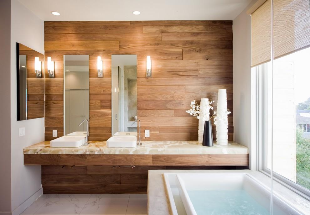 Onyx San Diego for Contemporary Bathroom with Walnut