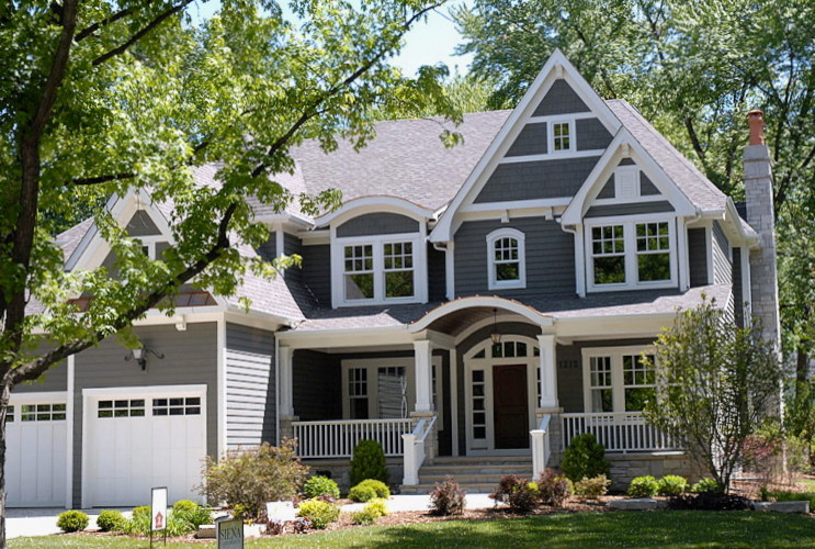 Owens Corning Roofing for Traditional Exterior with Front Door