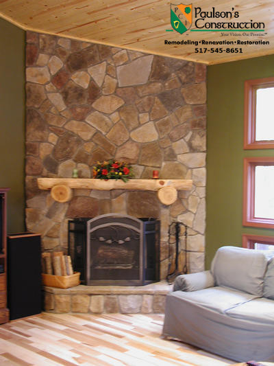 Paulson Tours for Rustic Family Room with Cultured Stone