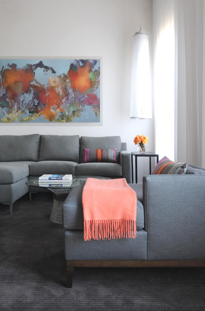 Poltrona Frau for Contemporary Living Room with World Map