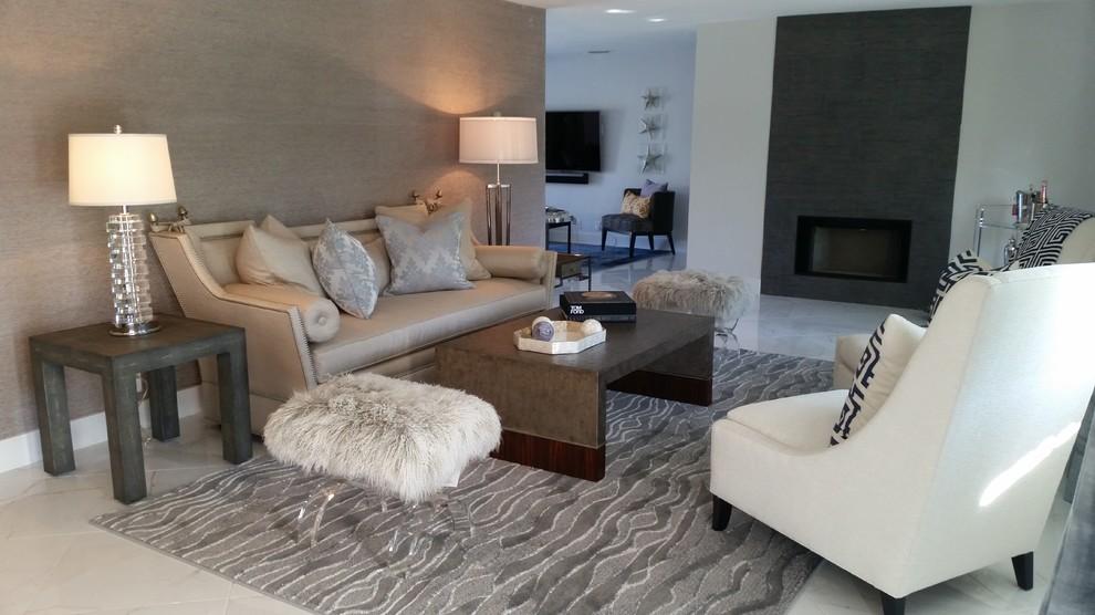 Quaker Ridge Golf Club for Contemporary Living Room with Contemporarytropical