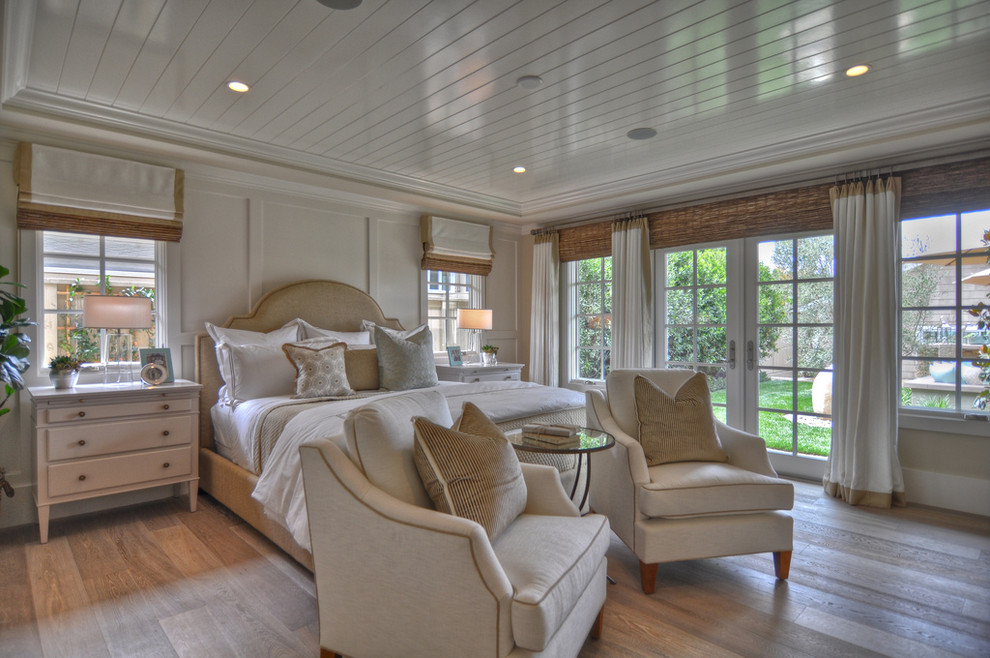 Quaker Windows for Beach Style Bedroom with Baseboards
