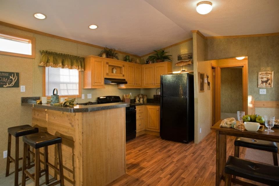 Redman Homes for Traditional Kitchen with Vinyl Flooring