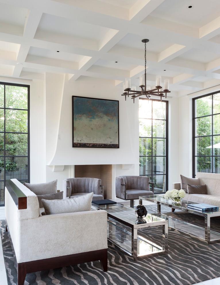 Refurbishing Furniture for Mediterranean Living Room with Artwork