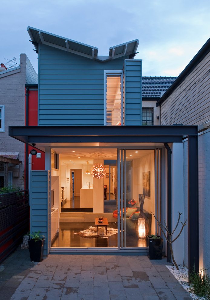 Roofs or Rooves for Contemporary Exterior with Living Room