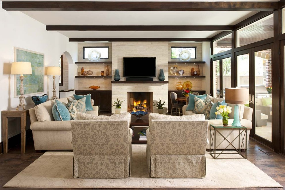 Rosewood Palo Alto for Transitional Family Room with Blown Glass