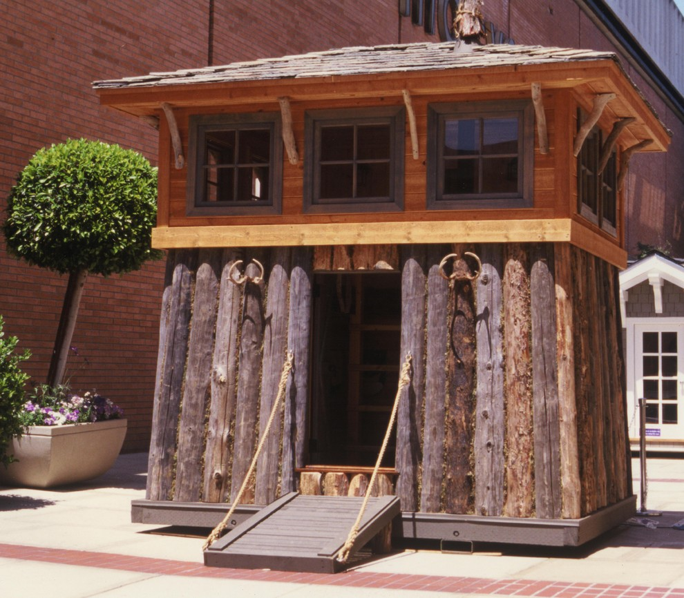Ruhter Auction for Rustic Exterior with Play House