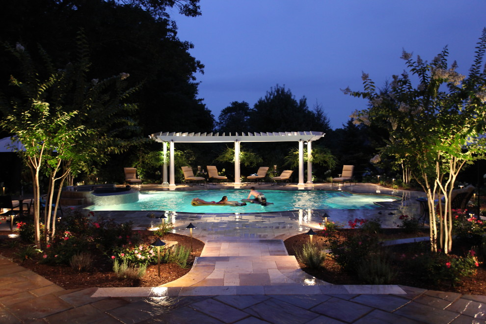 Safelite Nj for Mediterranean Pool with Arbor