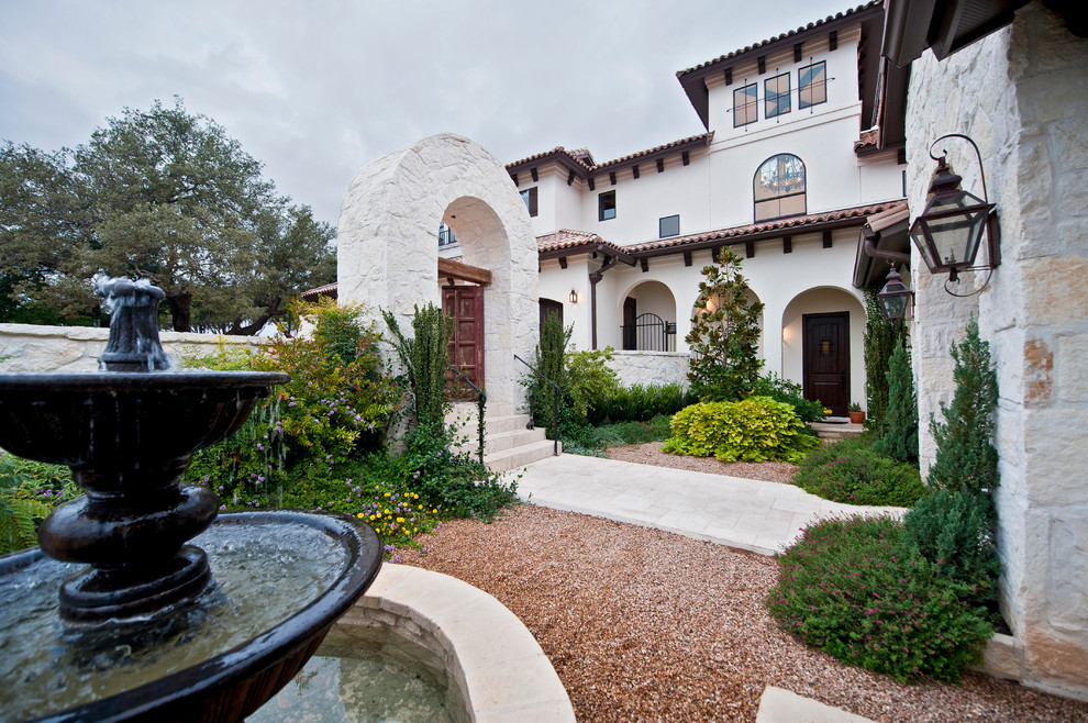 Santa Barbara Presidio for Mediterranean Landscape with Arch