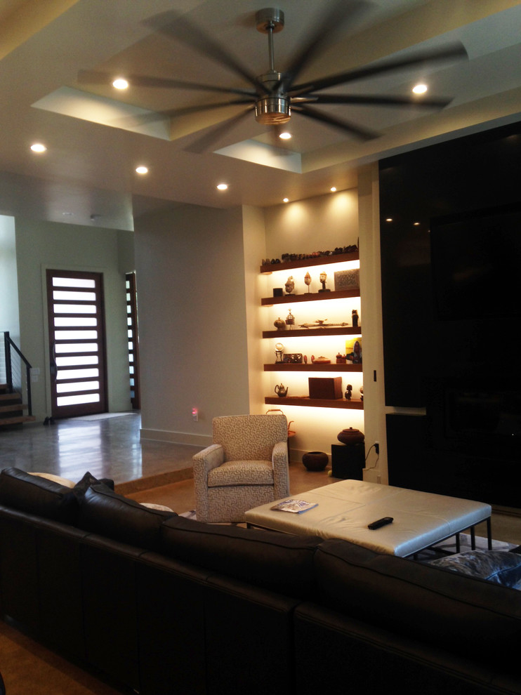 Satco Lighting for Contemporary Living Room with Fans