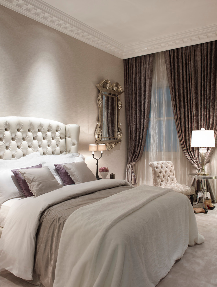 Saxony Carpet for Shabby-Chic Style Bedroom with Period Property