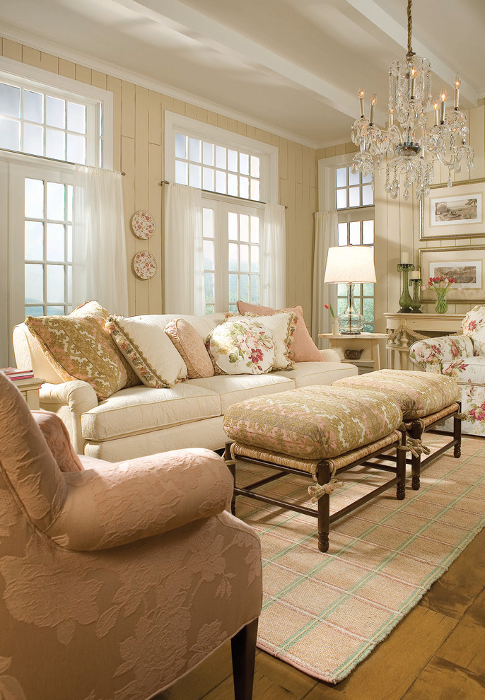 Saybrook Country Barn for Traditional Living Room with Traditional