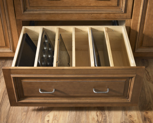 Schuler Cabinetry for Traditional Kitchen with Organized