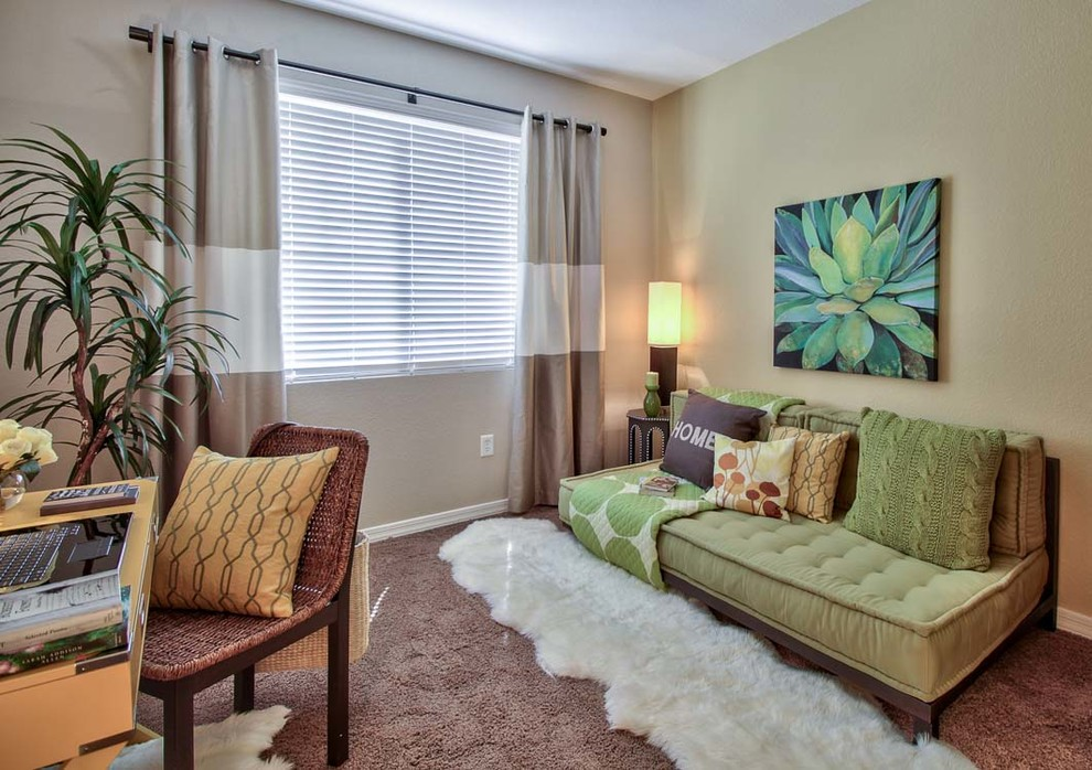 Scottsdale Gateway Apartments for Contemporary Home Office with Sheepskin Rug