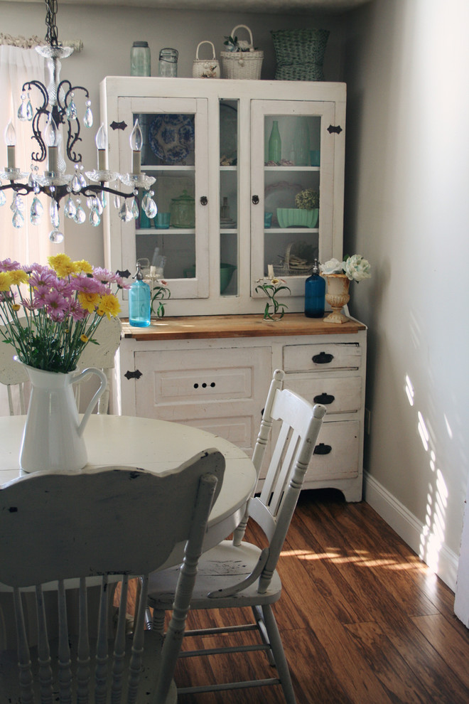 Shabby Sheek for Shabby-Chic Style Dining Room with Drawer Pulls