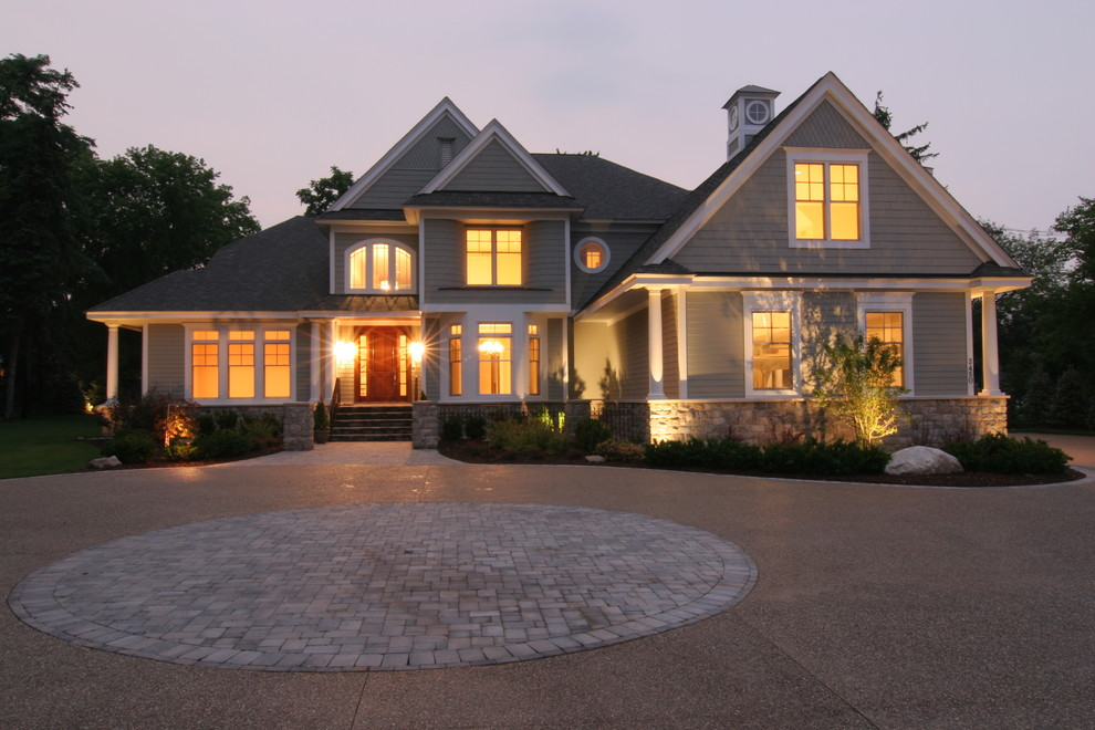 Sherwin Williams Duration for Victorian Exterior with Garden Lighting