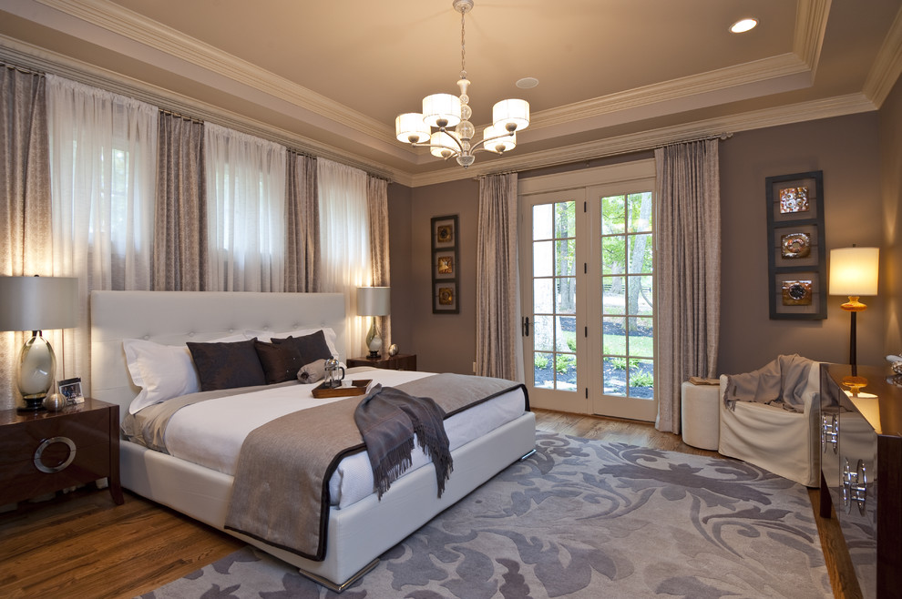 Sherwin Williams Macadamia for Contemporary Bedroom with Bedside Table