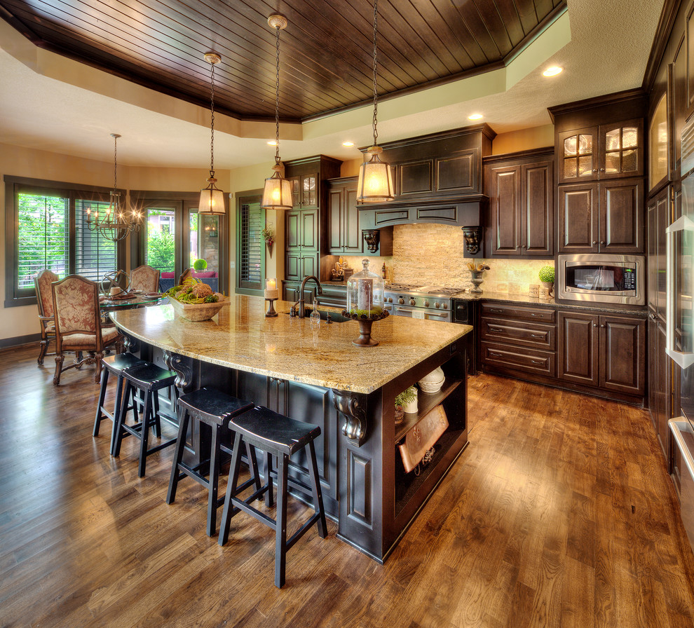 Sherwin Williams Stain Colors for Mediterranean Kitchen with Open Floor Plan Ideas