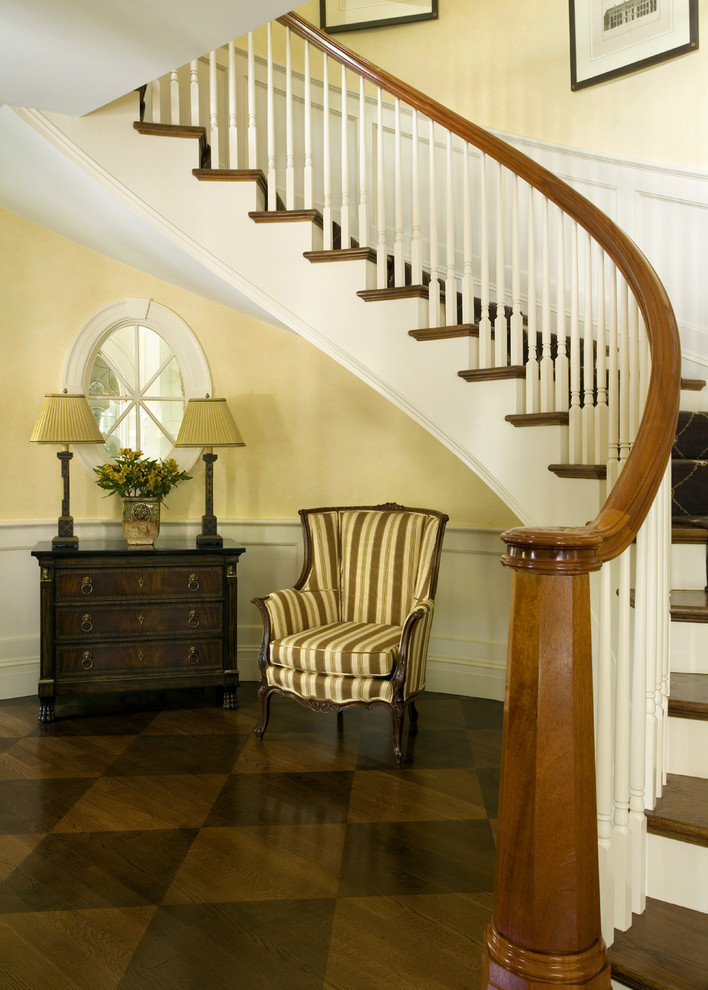 Shoreline Flooring for Traditional Staircase with Spacious Entry