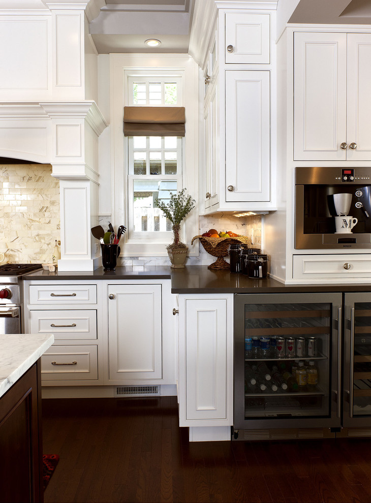 Showplace Wood Products for Traditional Kitchen with Mantel Range Hood