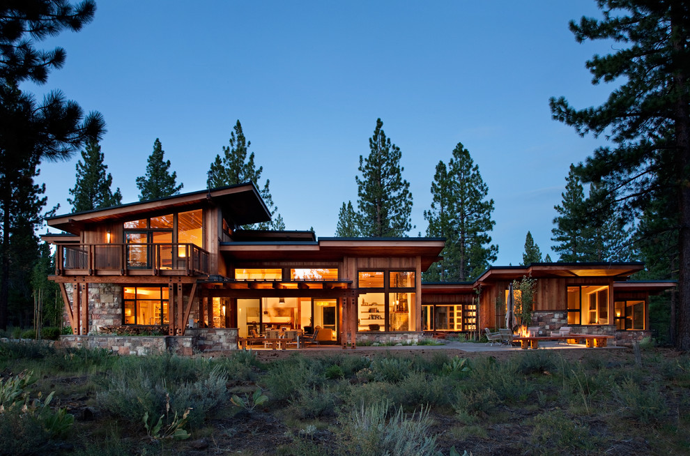 Sierra Pacific Windows for Rustic Exterior with Pine Trees