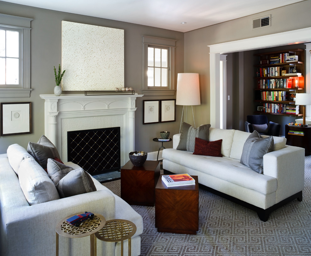 Sightline for Contemporary Living Room with Living with Art