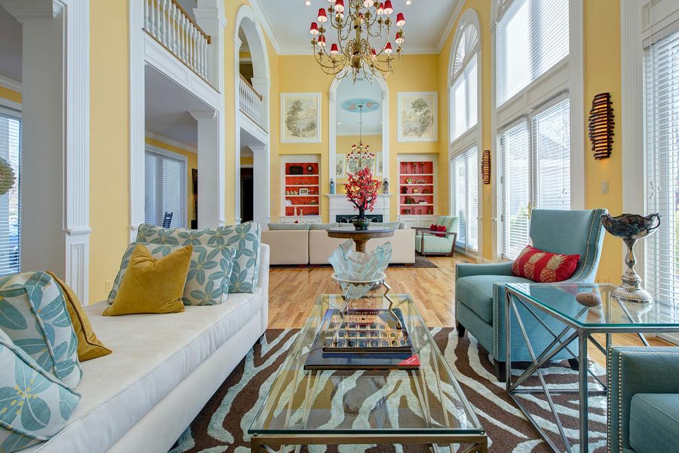 s&k for Contemporary Living Room with Velvet