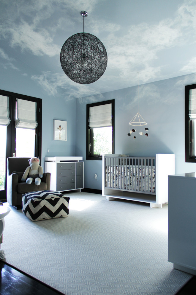 Sklar Furniture for Contemporary Nursery with Changing Table
