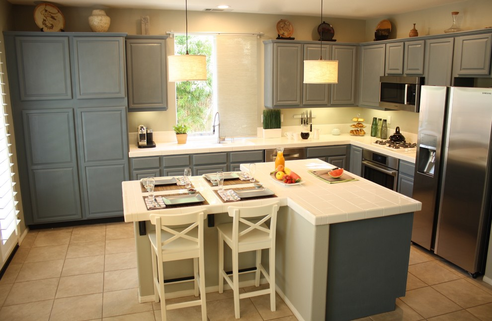 Sloan Implement for Transitional Kitchen with Stainless Steel Appliances