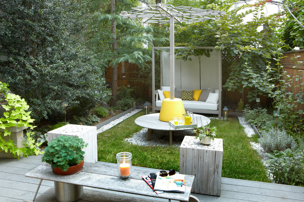 Sloat Garden Center for Contemporary Landscape with Patio Bench