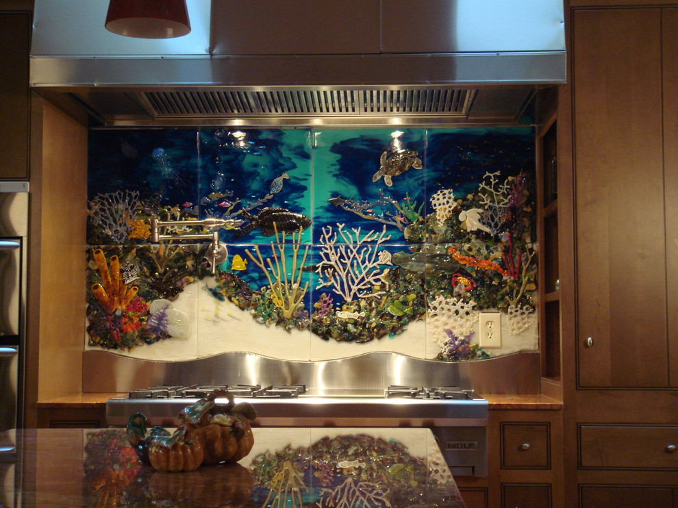 Snyder Tanks for Tropical Kitchen with Kitchen Backsplash