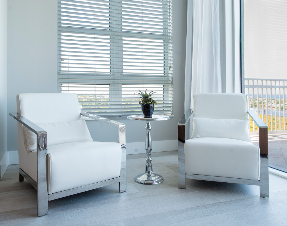 Sobe Furniture for Modern Spaces with Beleza White Leather Chair