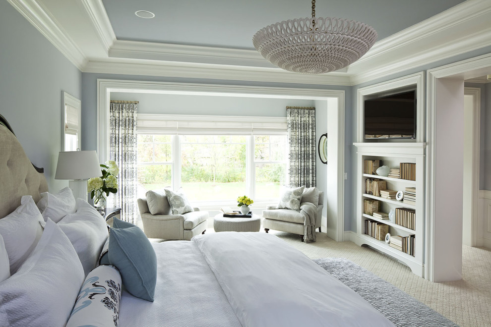 Soft Caress Mahonia for Traditional Bedroom with Bookcase