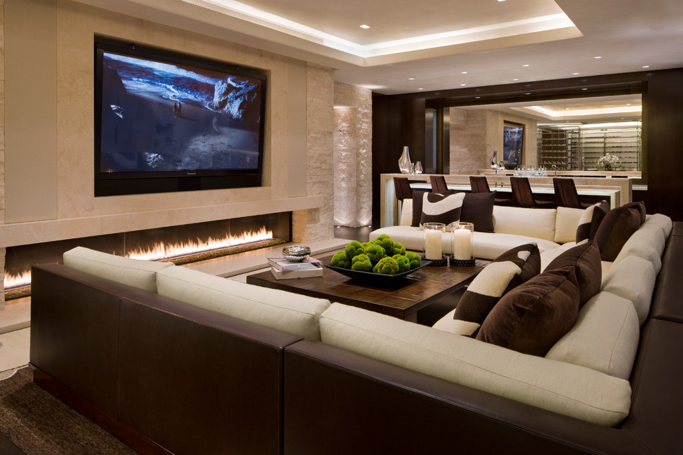Sparta Theater Nj for Contemporary Family Room with Soffit