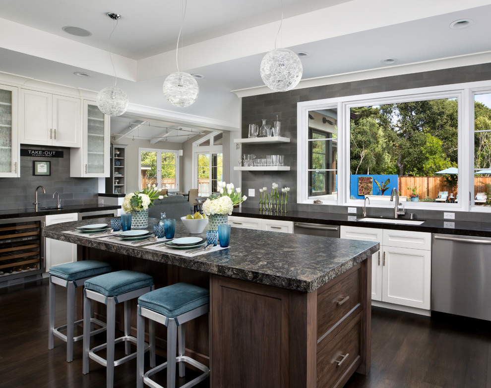 Spencers Appliances for Contemporary Kitchen with Frame and Panel Woodwork