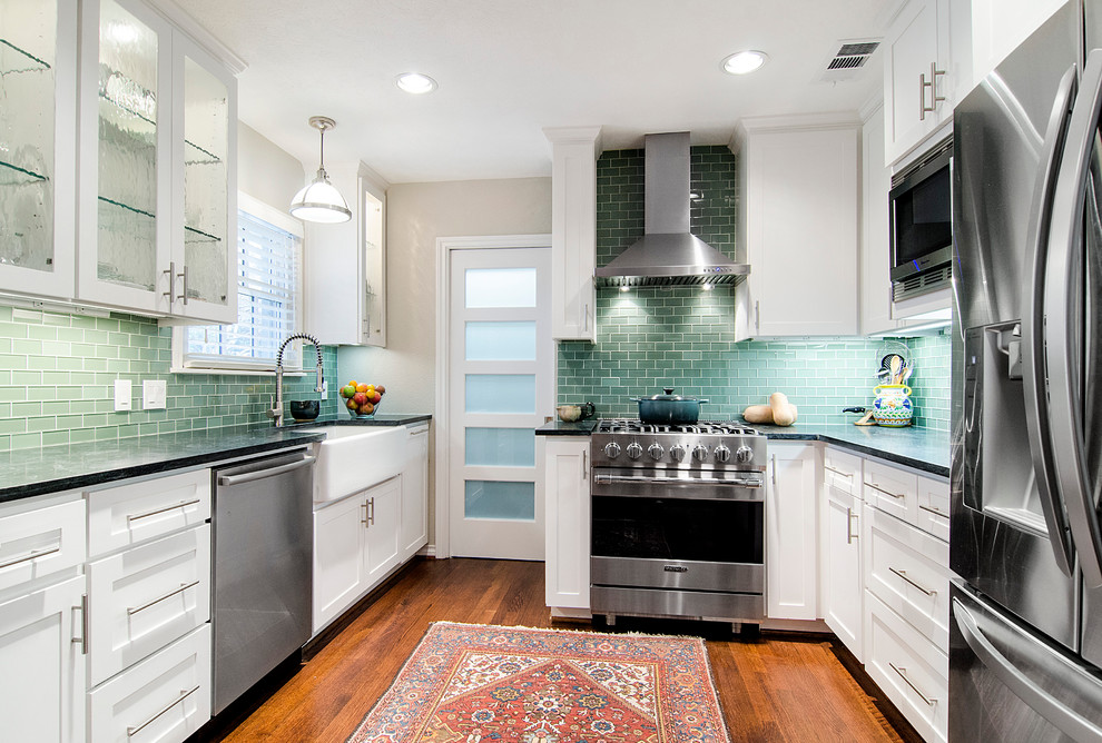 Stampin Pretty for Transitional Kitchen with White Cabinets