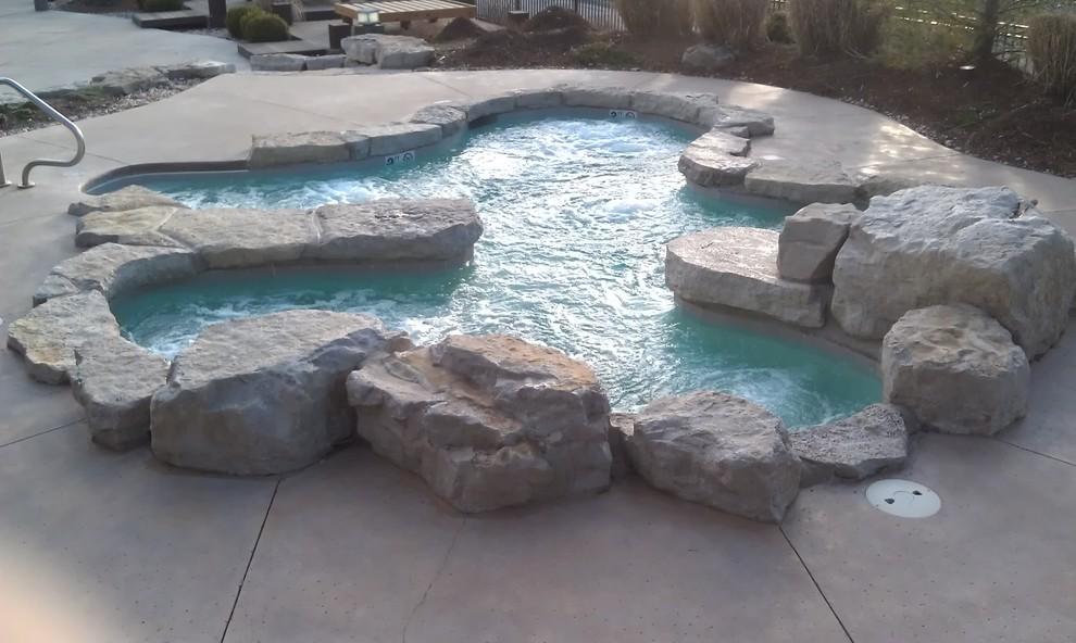 Stillwaters Resort for Rustic Pool with Gunite Spa