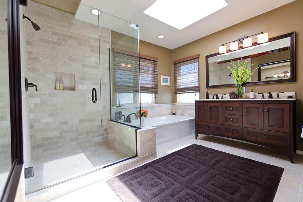 Stowers Furniture for Traditional Bathroom with Recessed Lighting