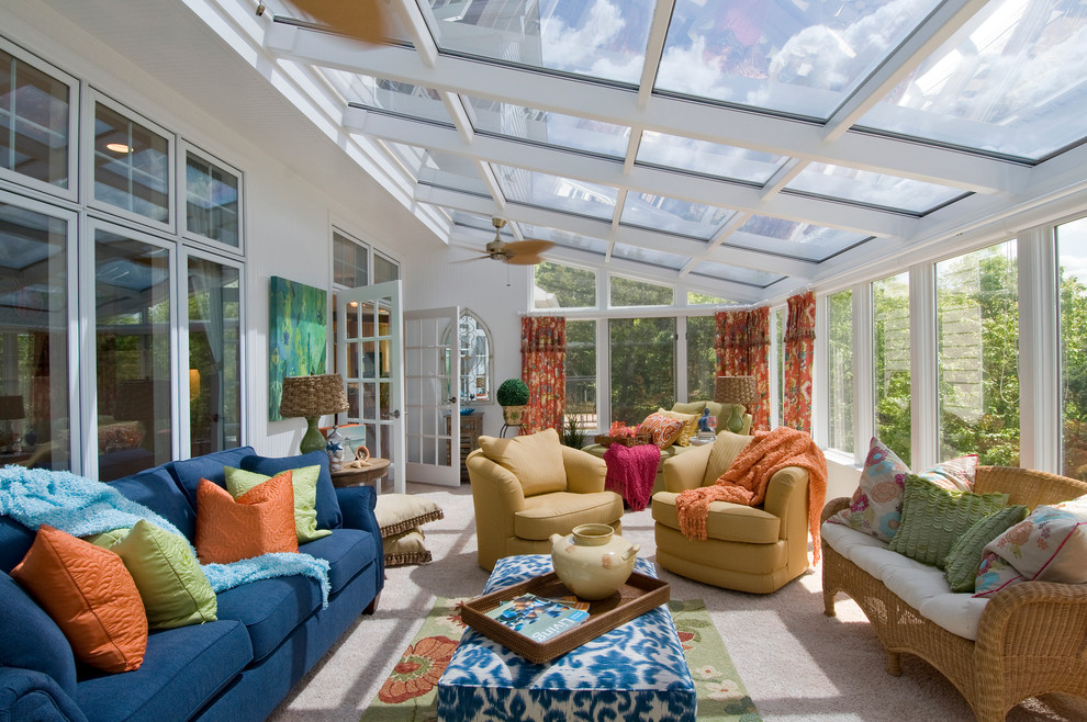 Sunroom Decorating Ideas for Traditional Sunroom with Window Tinting