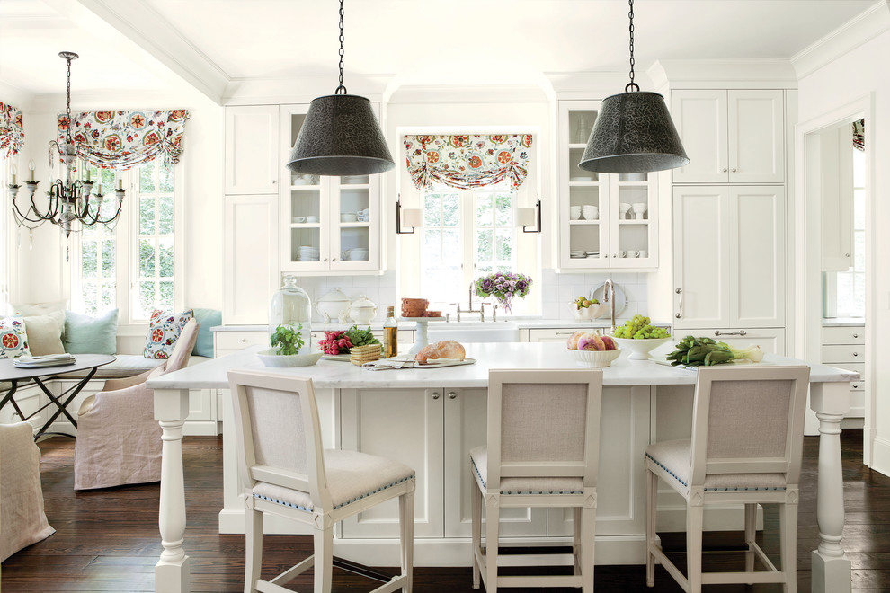 Suzanne Kasler for Traditional Kitchen with Window Treatments