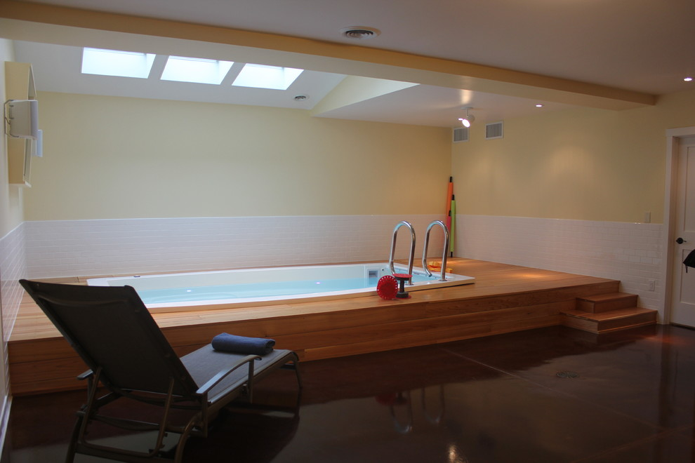 Swimex for Contemporary Home Gym with Spa