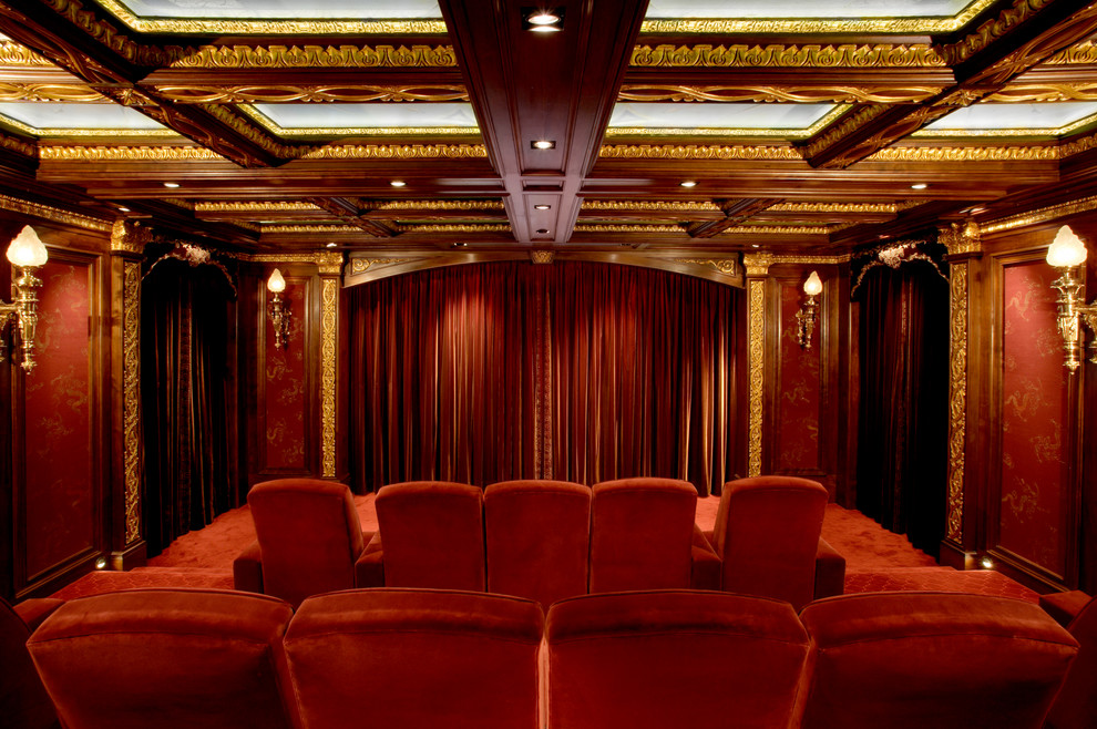 Syracuse Movie Theater for Traditional Home Theater with Velvet