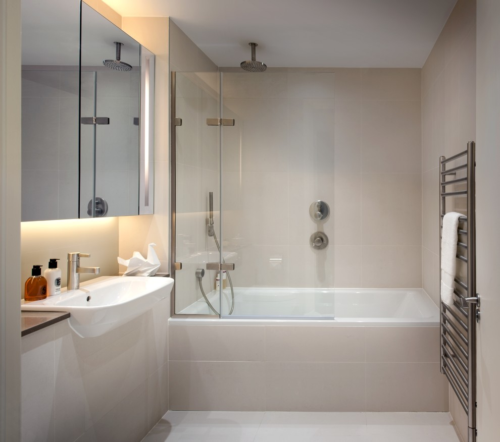 t&g for Contemporary Bathroom with Shower Glass