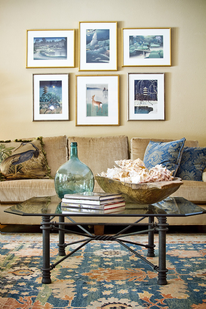 Thad Ziegler Glass for Shabby-Chic Style Living Room with Metal