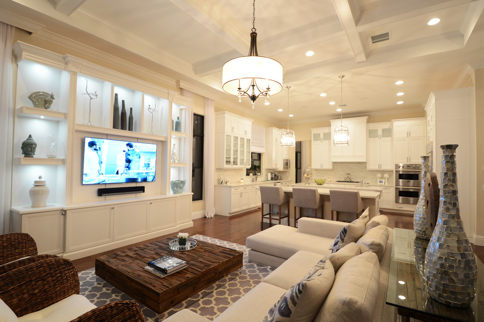 The Bridges Delray for Transitional Living Room with Built In