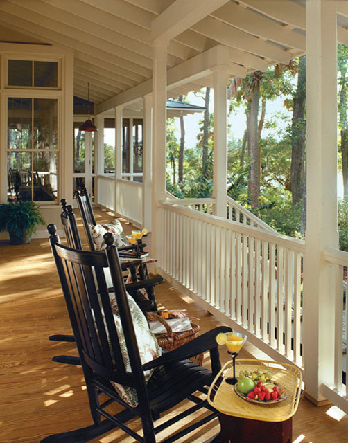 Tideland for Traditional Porch with Black Rocker