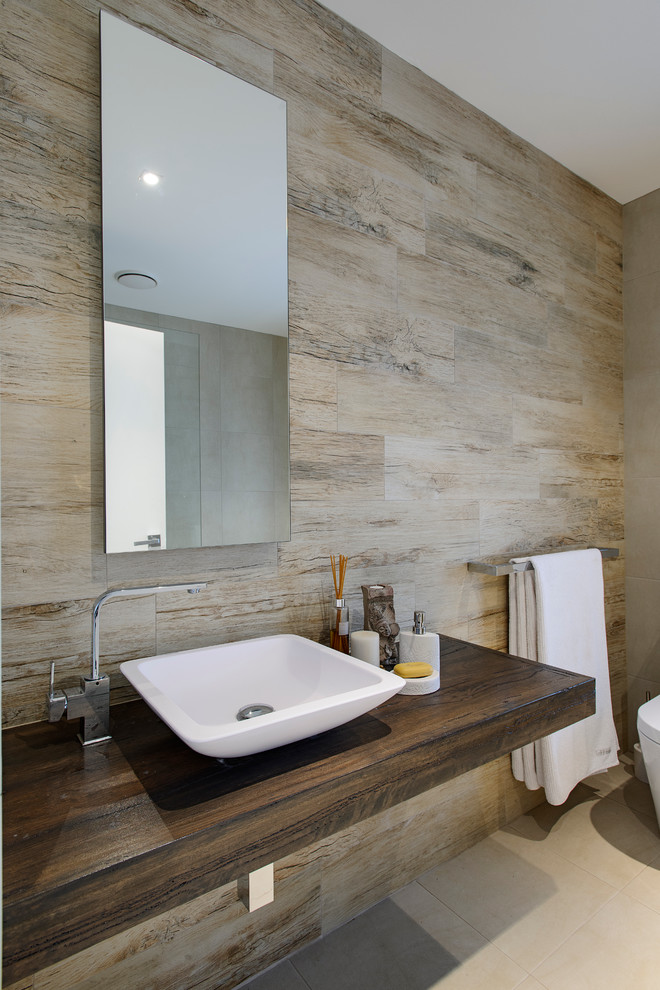 Timber Wolf Size for Contemporary Bathroom with Timber Vanity